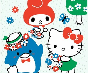 background, sanrio, and hello kitty image