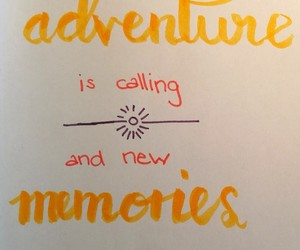 adventure, calligraphy, and handlettering image