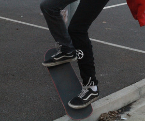 skate, vans, and aesthetic image