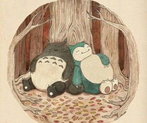 totoro, pokemon, and snorlax image
