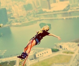 bungee, bungee jump, and jump image
