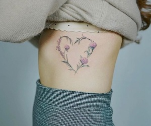 tattoo, flowers, and heart image