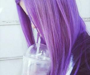 purple, hair, and tumblr image