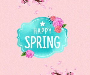april, spring, and sticker image