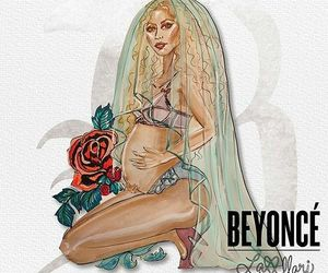 pregnancy, twins, and beyonce art image