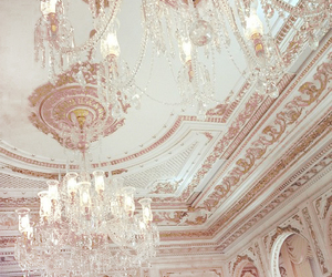 luxury, chandelier, and gold image