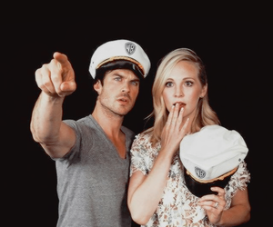 ian somerhalder, tvd, and candice accola image