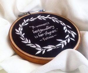 embroidery, feminism, and typography image