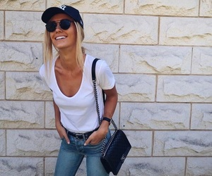 blonde, fashion, and hat image