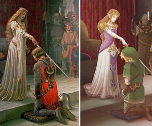 art, link, and painting image