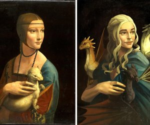 art, Leonardo da Vinci, and painting image