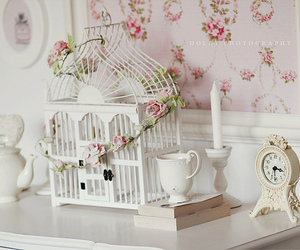 birdcage, delicate, and dreamy image