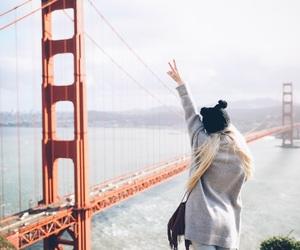 girl, travel, and san francisco image