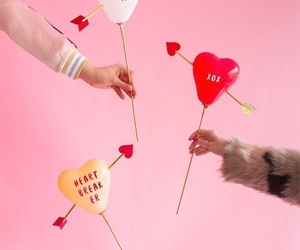 balloon, love, and february image