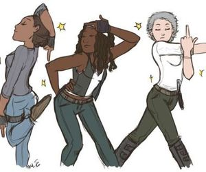 carol, sasha, and michonne image