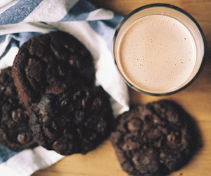 Cookies, food, and milk image