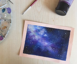blue, colors, and galaxy image