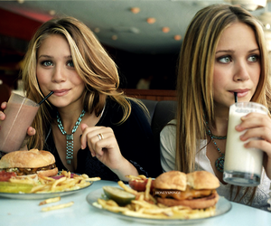 olsen, twins, and food image