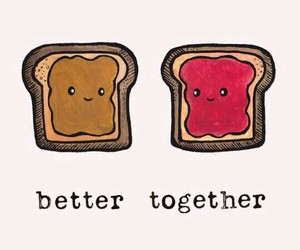 better together, food, and wallpaper image