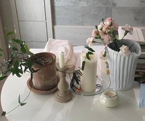 white, decoration, and flowers image