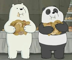 cartoon, ice bear, and panda image