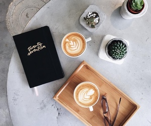 art, latte, and cappuccino image