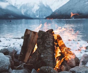 nature, fire, and photography image