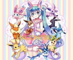 animals, eevee, and anime image