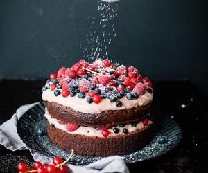 art, berries, and cake image
