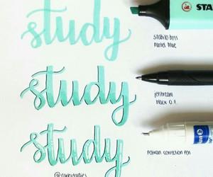 school, study, and calligraphy image