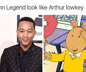 funny, john legend, and arthur image
