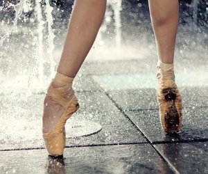 ballet, dance, and rain image