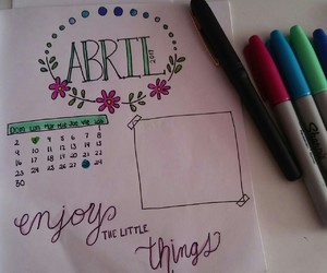 abril and bullet journal image