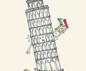 pizza, torre, and funny pictures image