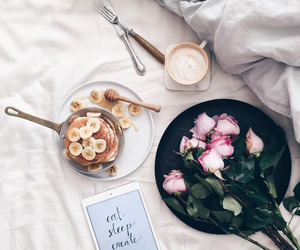 coffee, flowers, and food image