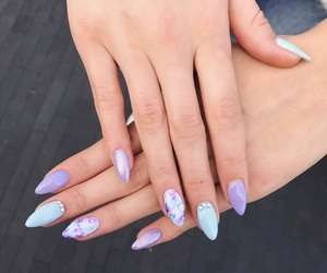nails, purple, and sharpies image