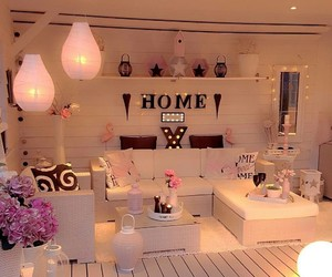 home, light, and decoration image