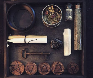 crystal, witch, and wicca image