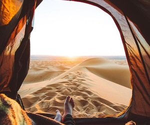 camping, desert, and travel image