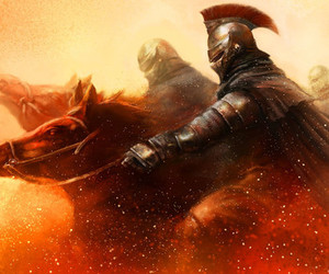 knight, sparta, and warrior image