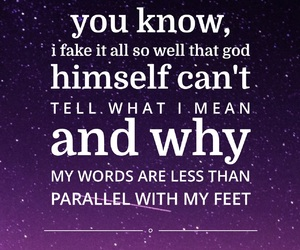 Lyrics, thoughts, and parallel image