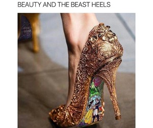 beauty and the beast, movie, and shoes image