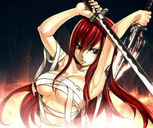 anime, fairy tail, and erza image