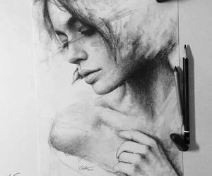 art, drawing, and pencil image