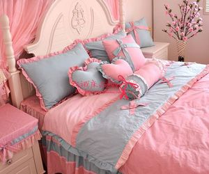 bedroom, pink, and pink room image