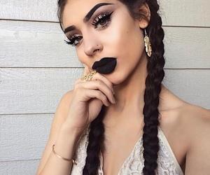 makeup, girl, and hair image