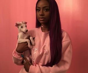 girl, pink, and justine skye image