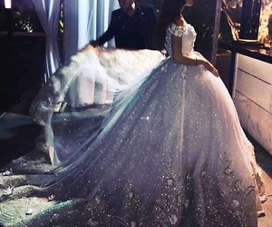 ball gown and sparkling dress image