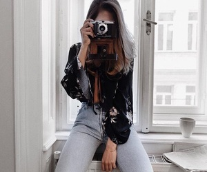 fashion, camera, and girl image