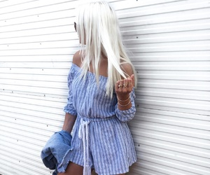 blonde, blue, and denim image